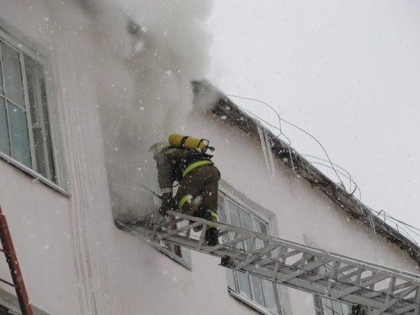 Сильный пожар в Златоусте
